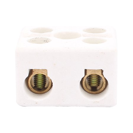 9PCS Cable Connector 2 Position 2 Row Ceramic Terminal Block 220V 30A - image 2 of 2