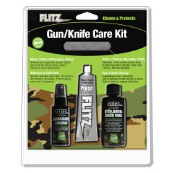 FLITZ GUN & KNIFE CARE KIT 4 PIECES POLISH/CLEANER/WAX/CLOTH UNIVERSAL Ak 47 Gun Parts