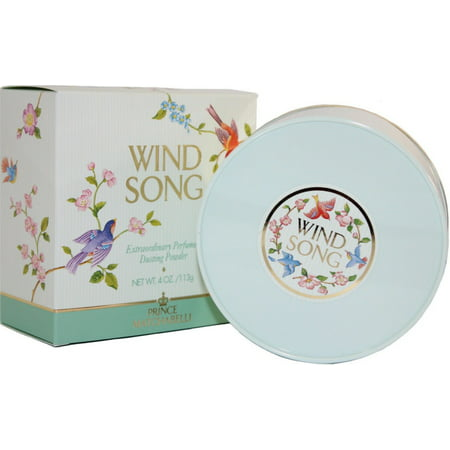 Prince Matchabelli Wind Song Perfumed Dusting Powder 4 oz (Pack of 4)