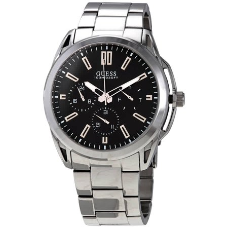 Guess Vertex Quartz Black Dial Men's Watch (Guess The Designer)