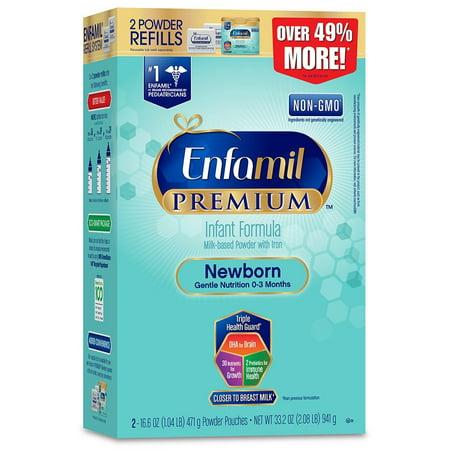 Enfamil Newborn PREMIUM Infant Formula, Powder, 33.2 oz Refill Box Infant Newborn Baby Formula