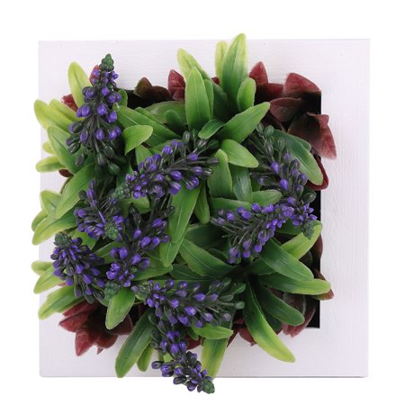 Home Plastic Wall Hanging Table Top Artificial Flowers Plant Frame - Table Top Flame Light