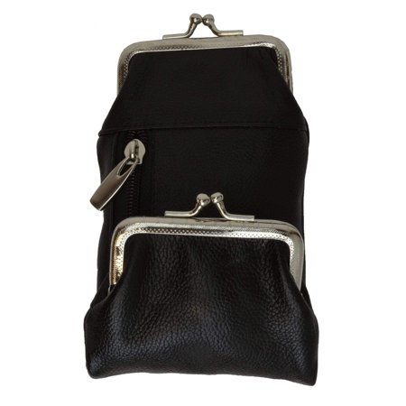 Genuine Leather Cigarette and Lighter Case with Twist Clasp 1838AL (C) Burgundy Leather Presentation Case