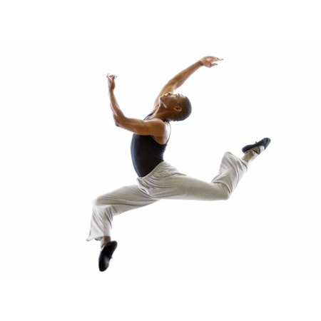Ballet Dancer Mid-air in Jump Print Wall Art By Tim Pannell Ballet Dancer Frogs