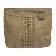 Religion Women's Interweave Faux Leather Clutch Bag One Size Taupe