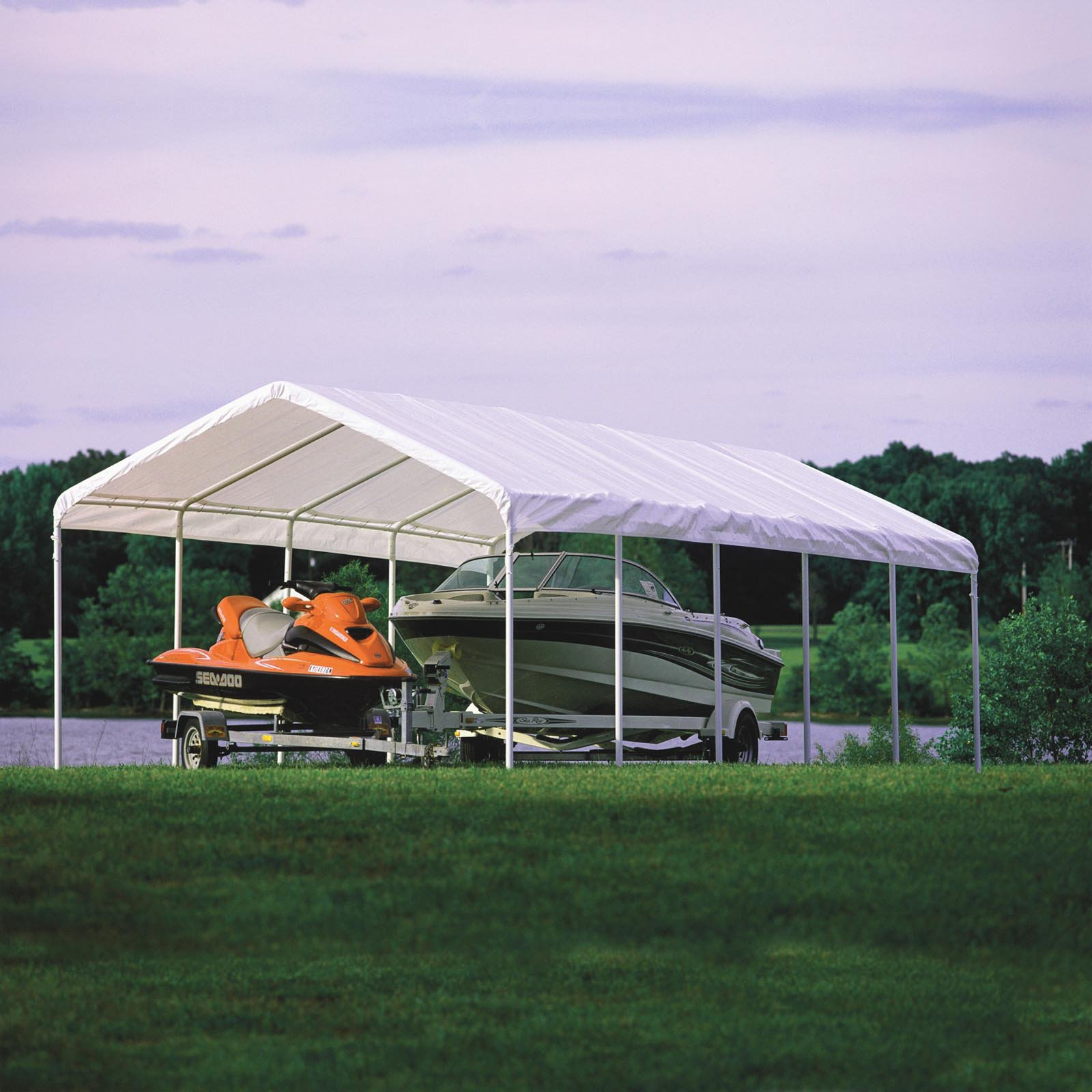 Shelterlogic Super Max 12' x 30' 6-Rib Canopy White Cover