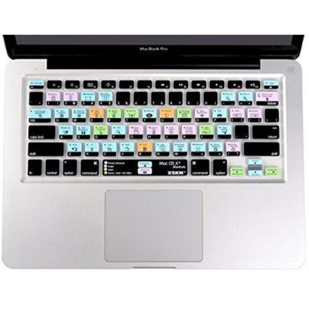 XSKN OS X Shortcuts Keyboard Skin Cover for MacBook 13 15 17 US