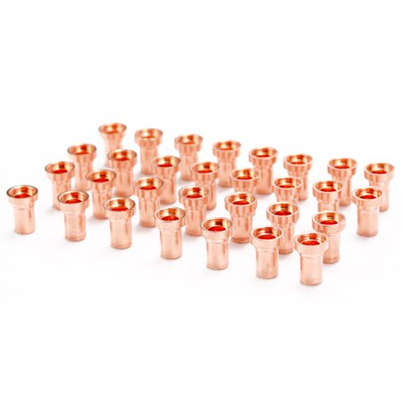 60PCS Red Copper Extended Long Plasma Cutter Electrode Nozzle Kit Consumable For PT31 L-G40 40A Cutting - image 6 of 7