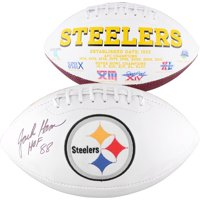 "Jack Ham Pittsburgh Steelers Autographed White Panel Football with ""HOF 88"" Inscription - Fanatics Authentic Certified"