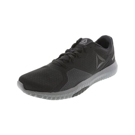Reebok Men's Flexagon Force Black / Alloy Pewter Ankle-High Training Shoes -