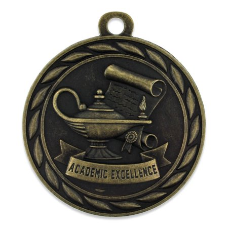 Gold Academic Excellence School Award Medals Single and Bulk School Medals