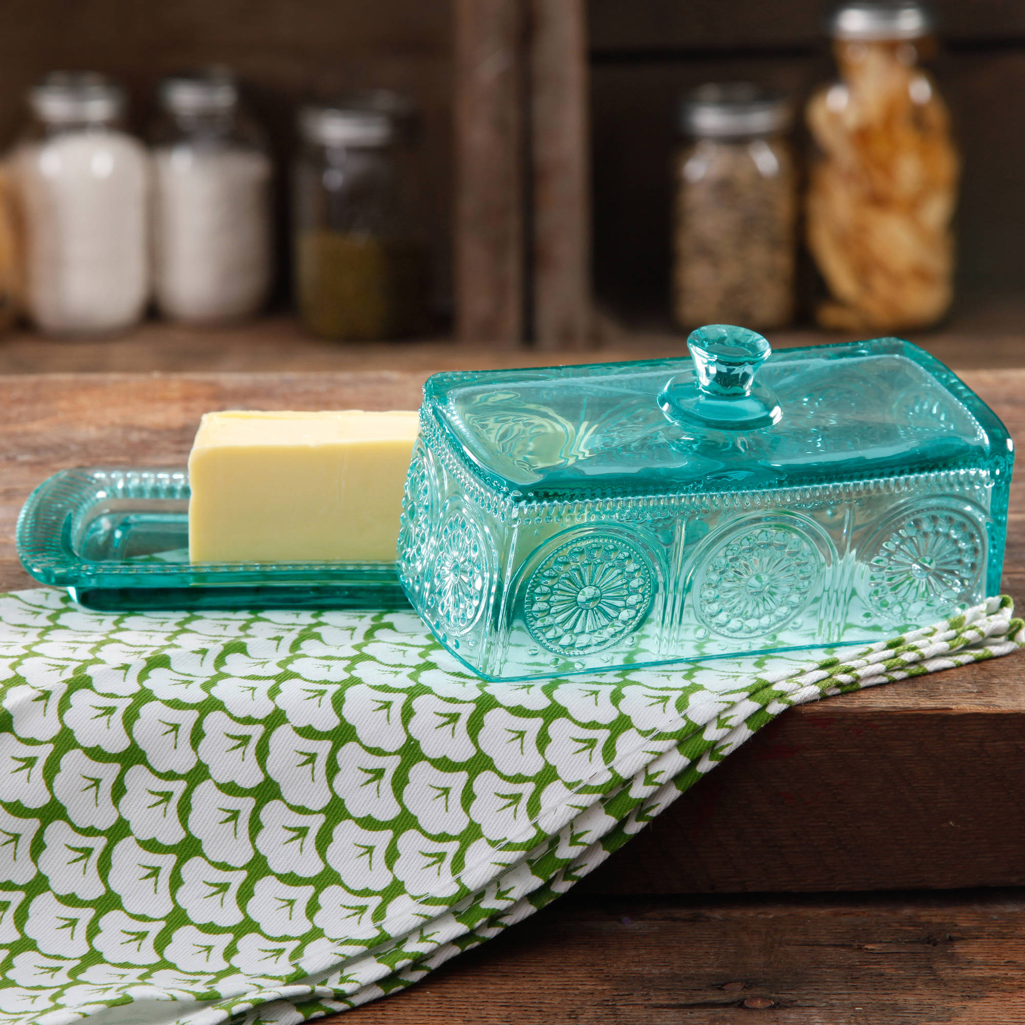 The Pioneer Woman Glass Butter Dish, Multiple Colors - Walmart.com