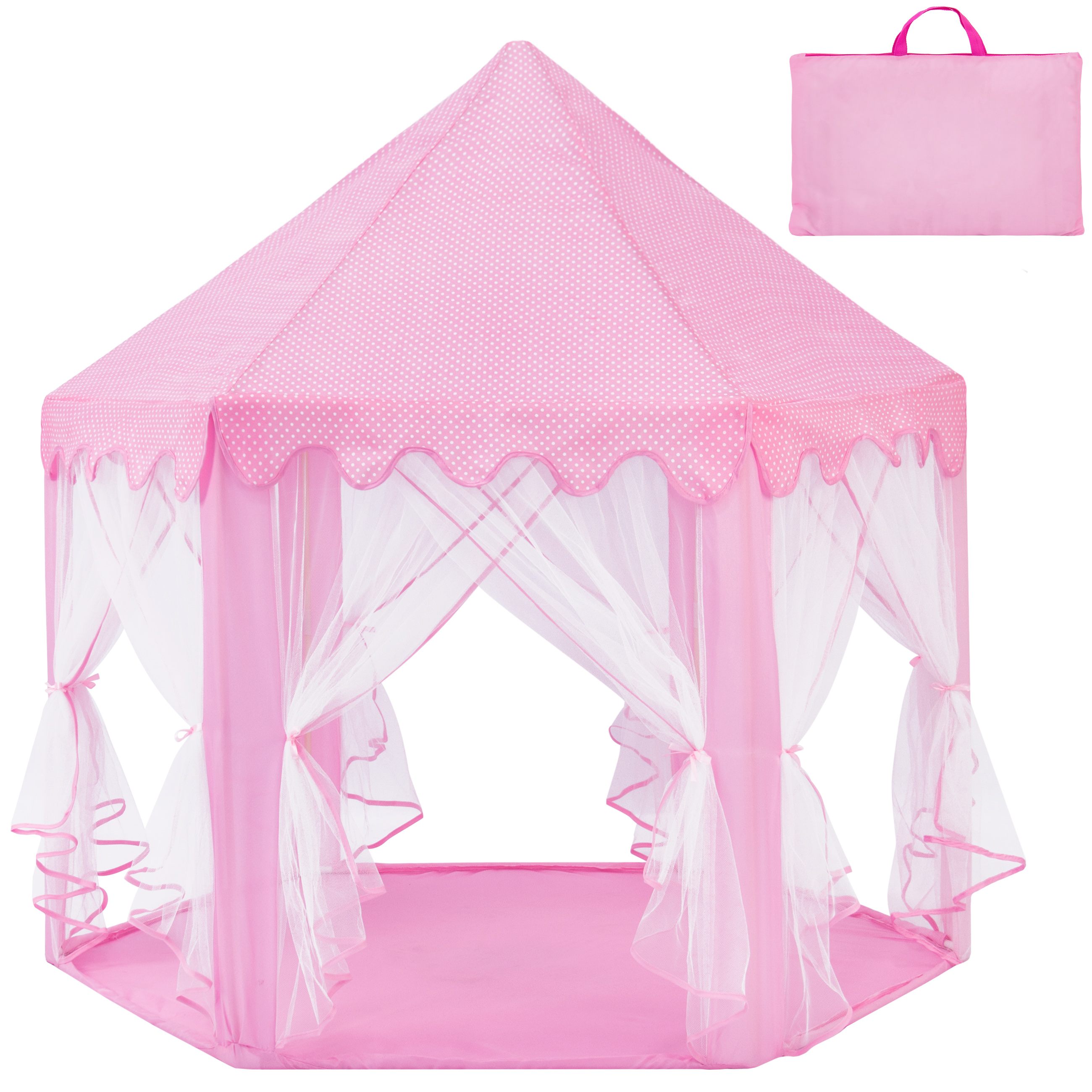 Best Choice Products Indoor/Outdoor Folding Deluxe Pop-Up Hexagon Princess Castle Play Tent  sc 1 st  Walmart & Best Choice Products Indoor/Outdoor Folding Deluxe Pop-Up Hexagon ...