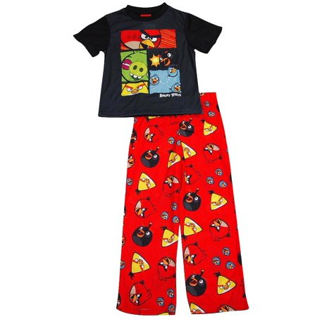 Angry Birds - Little Boys Short Sleeve Angry Birds Pajamas Multicolor / X-Small - Angry Birds Outfit