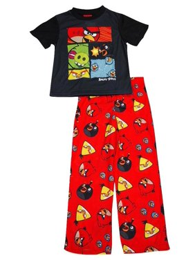 Angry Birds - Little Boys Short Sleeve Angry Birds Pajamas Multicolor / X-Small