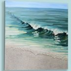 Giftcraft Wave Painting Print on Canvas