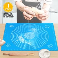 "Silicone Baking Mats with Measurements,Large Silicone Pastry Mats BPA Free Food Grade Silicone Rolling Dough Mat Non-stick Non-slip 16""x20"" FDA Approved"