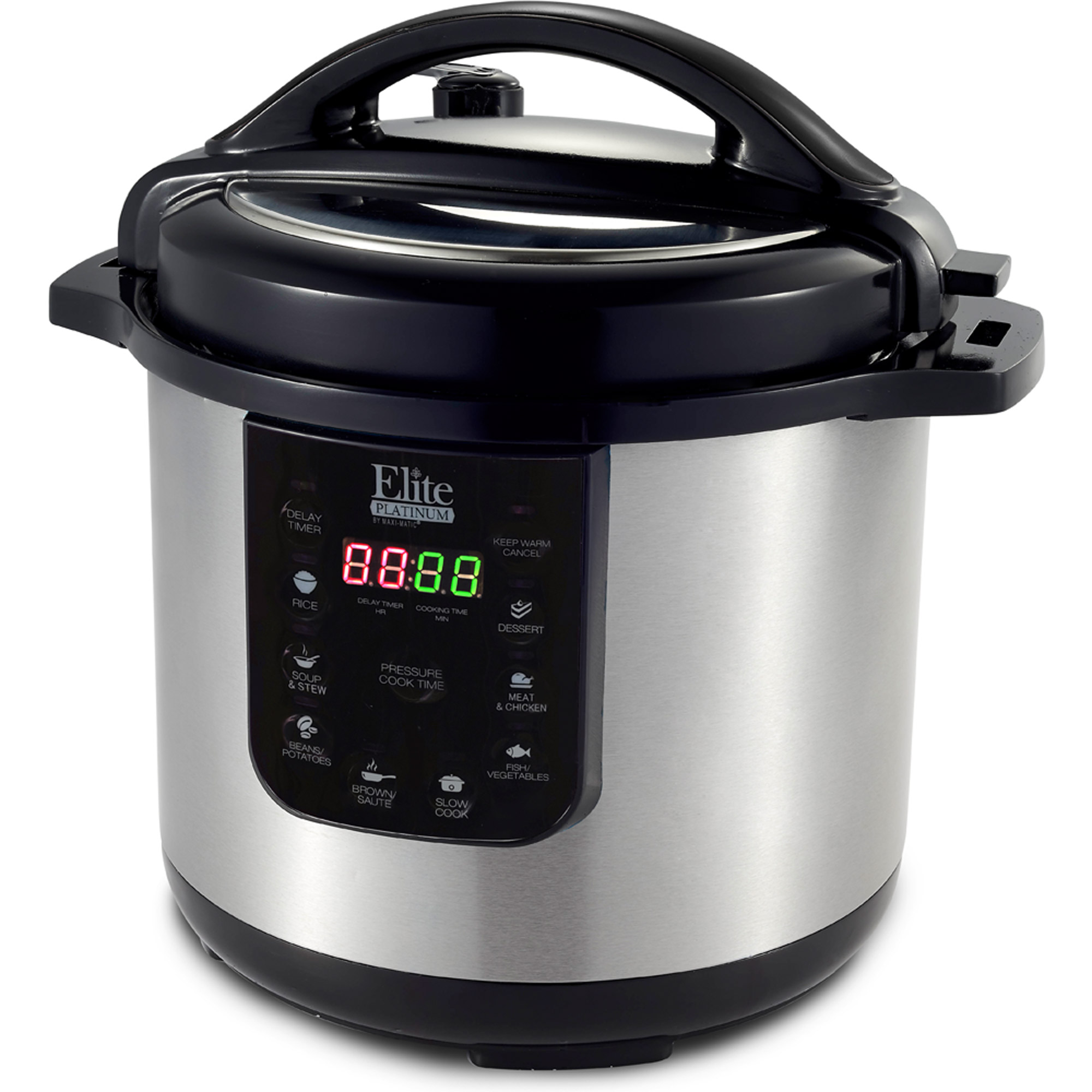 Elite Platinum EPC-813 8 qt Electric Stainless Steel Pressure Cooker, Black