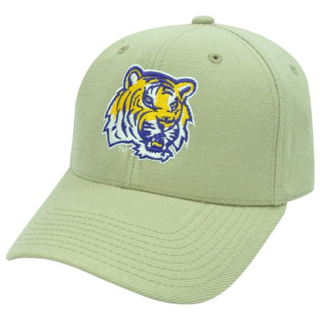 Bill 6 Panel Fitted Cap (NCAA LSU Louisiana Tigers Top Of The World Fitted 6 7/8 Curved Bill Hat Cap )