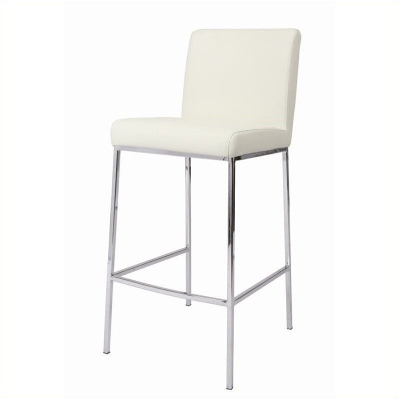 "Pastel Furniture Emilia 30"" Bar Stool in Ivory by Impacterra"