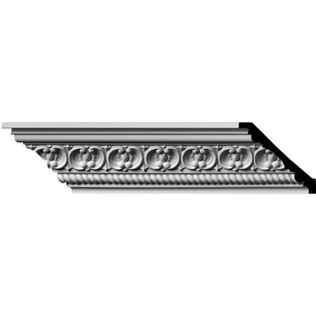 "3 1/4""H x 3 1/8""P x 4 5/8""F x 94 1/2""L, (1 7/8"" Repeat) Pearl Crown Moulding"