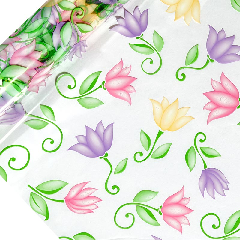 "Floral Printed Cellophane 30"" X 100' by Paper Mart"