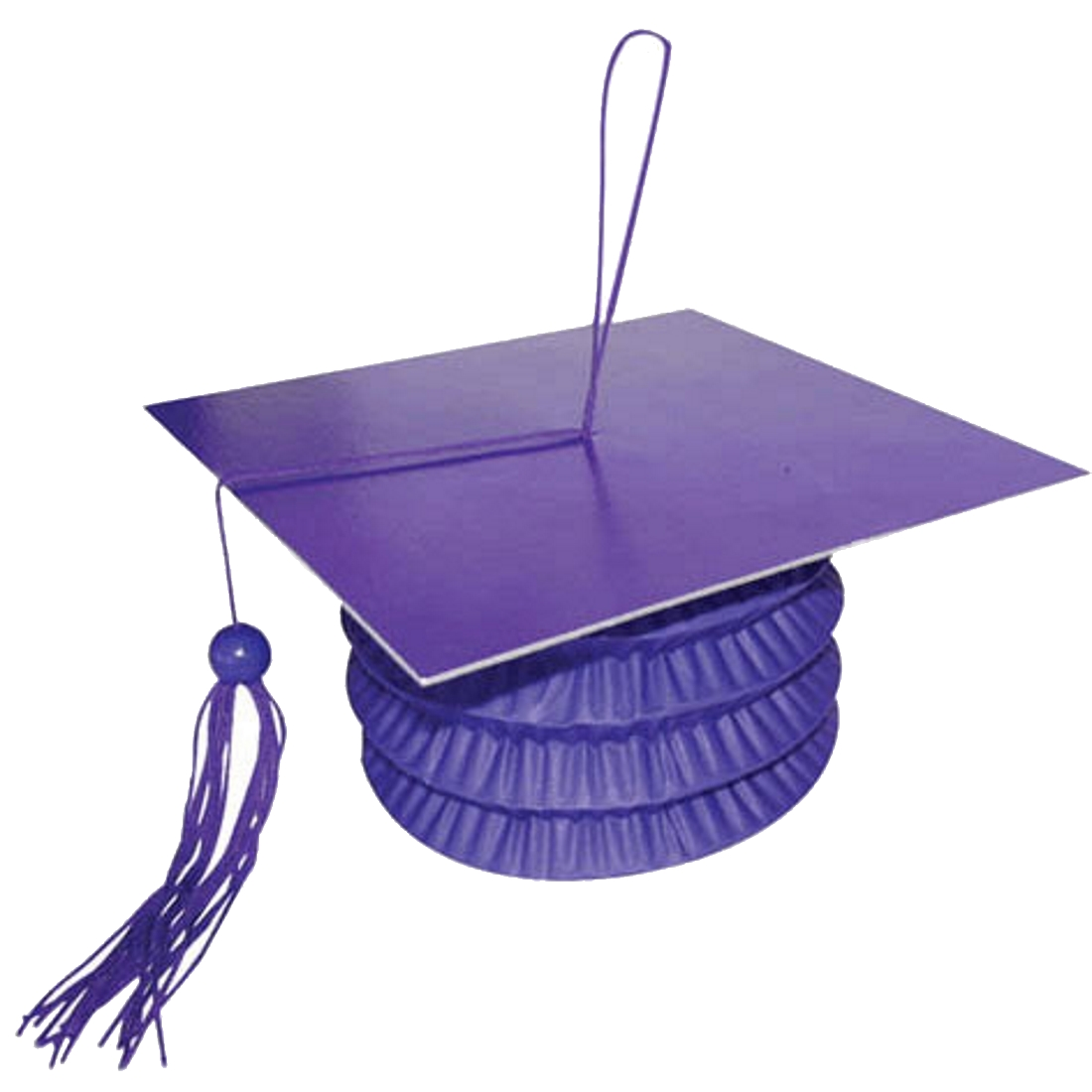 "Anagram Grad Cap Paper Lantern Bouquet 5.5"" Balloon Weight, Purple"