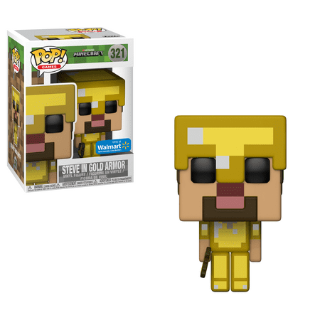 Funko POP! Games: Minecraft - Steve With Gold Axe Walmart Exclusive