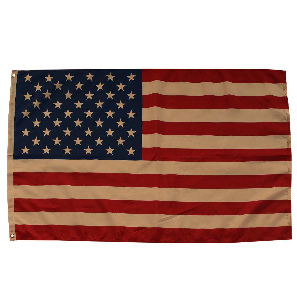 Tea Stained American Flag Grommet Flag Patriotic USA 3' x 5' Briarwood Lane