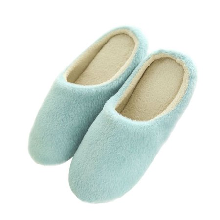 ae7ba426f83 Fymall - Women Men Winter Warm Fleece Anti-Slip Slippers Indoor Shoes -  Walmart.com