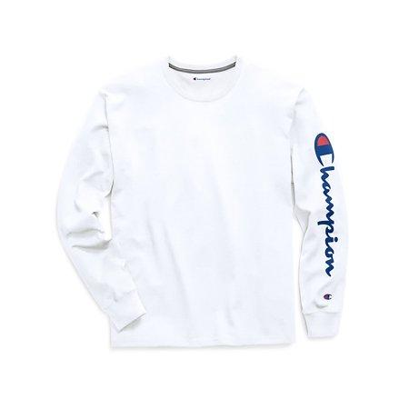 869b9d02b0362f Champion - Champion Men's Classic Jersey Long-Sleeve Tee, Vertical Script  Logo - GT78H Y06789 - Walmart.com