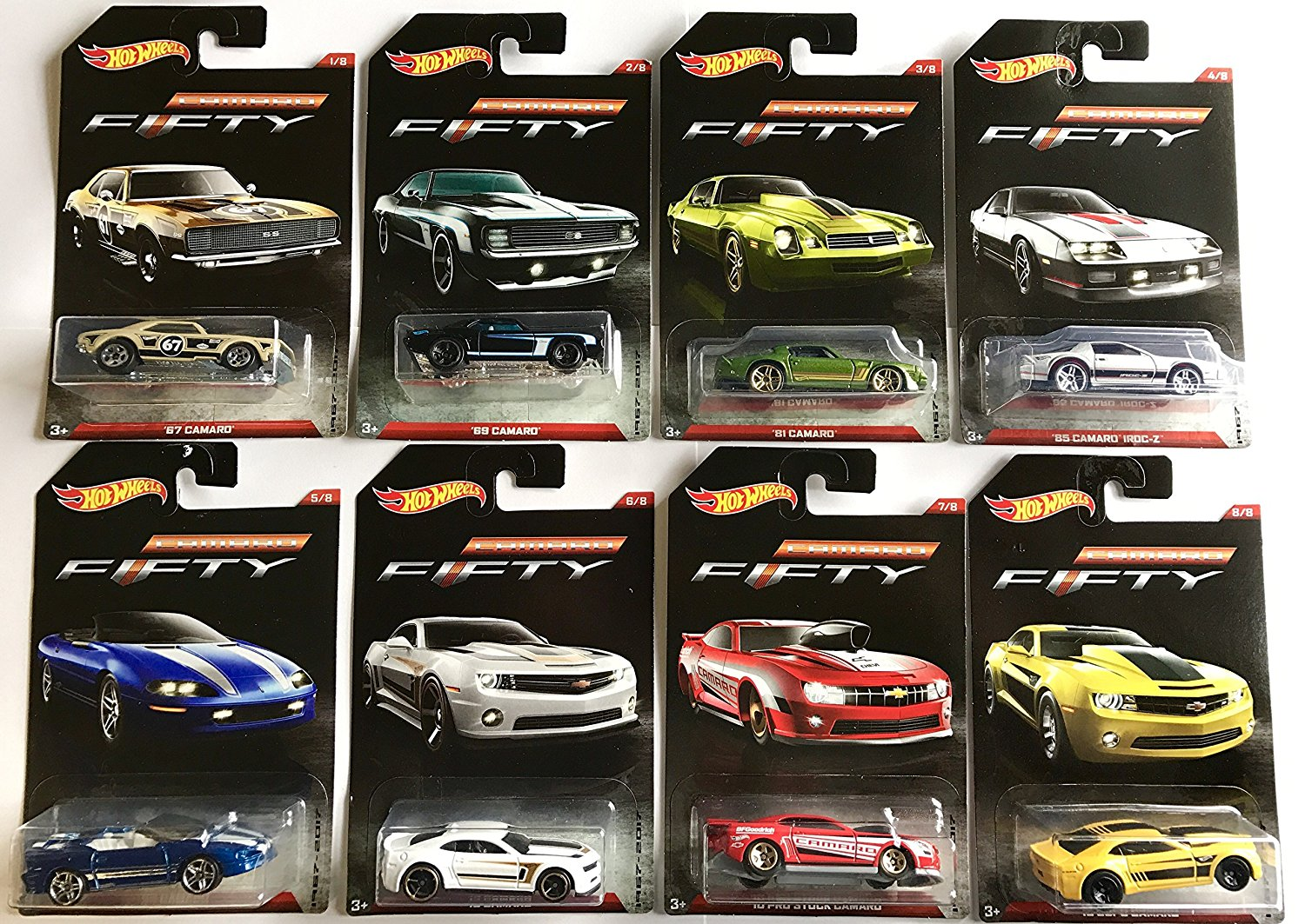 Camaro Fifty 1967-2017 Exclusive 8 Car Set, Hot Wheels Camaro Fifty 1967-2017 Exclusive 8... by