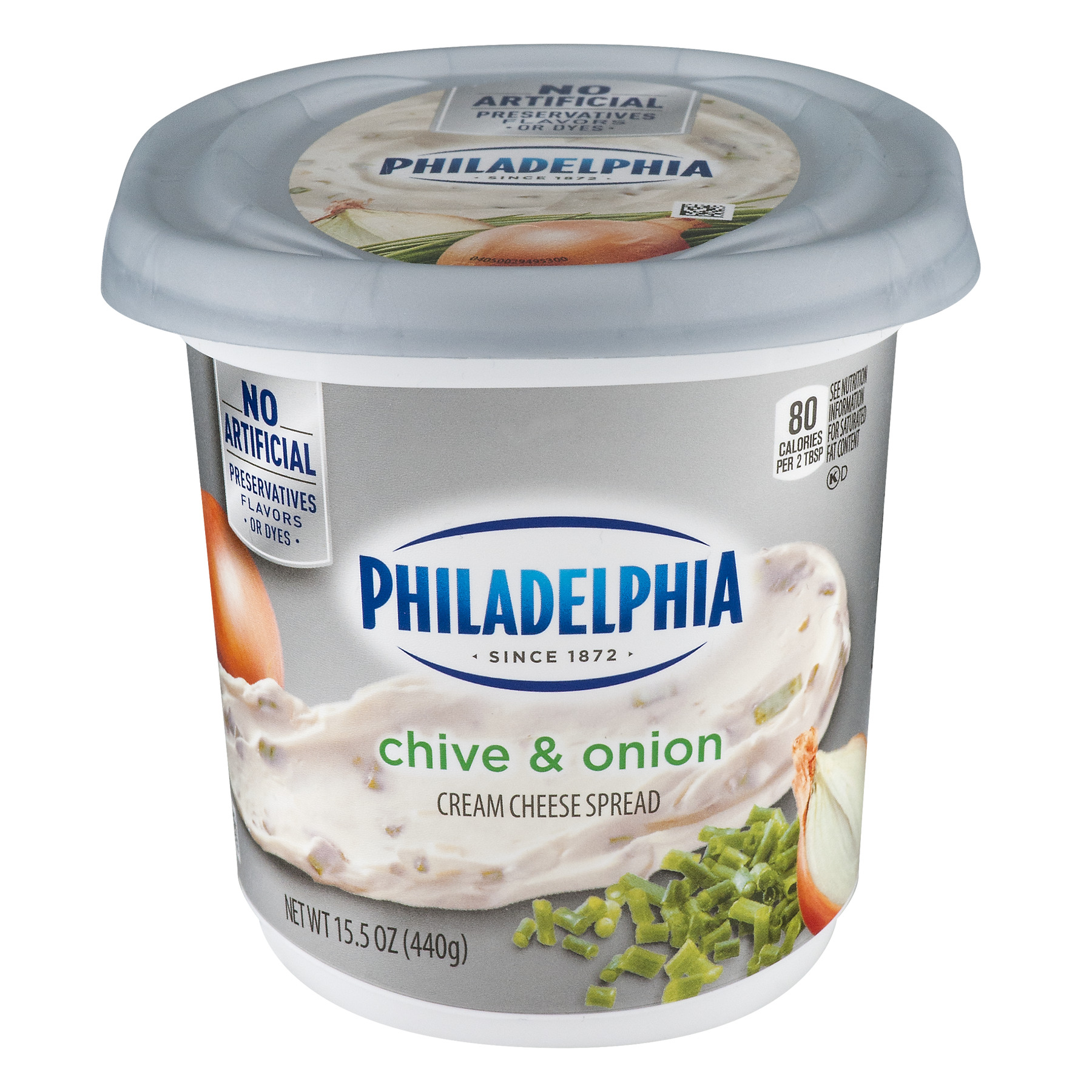 Philadelphia Chive & Onion Cream Cheese Spread, 15.5 oz