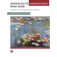 Anthology of Impressionistic Piano Music: Intermediate to Early Advanced Works by 20 Composers, Comb Bound Book (Paperback)