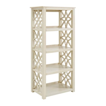 size 40 0d472 658b5 Linon Whitley Bookcase, Antique White, with 4 Sturdy Shelves