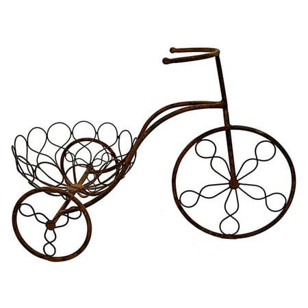 3 Hand Forged Metal (Three Hands 1 Basket Metal Bicycle Planter)