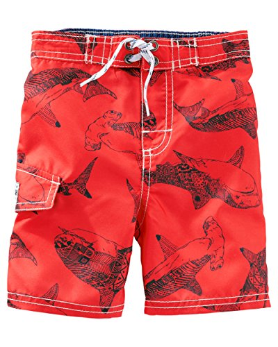 OshKosh B'gosh Baby Girls' Shark Print Swim Trunks - 24 Months