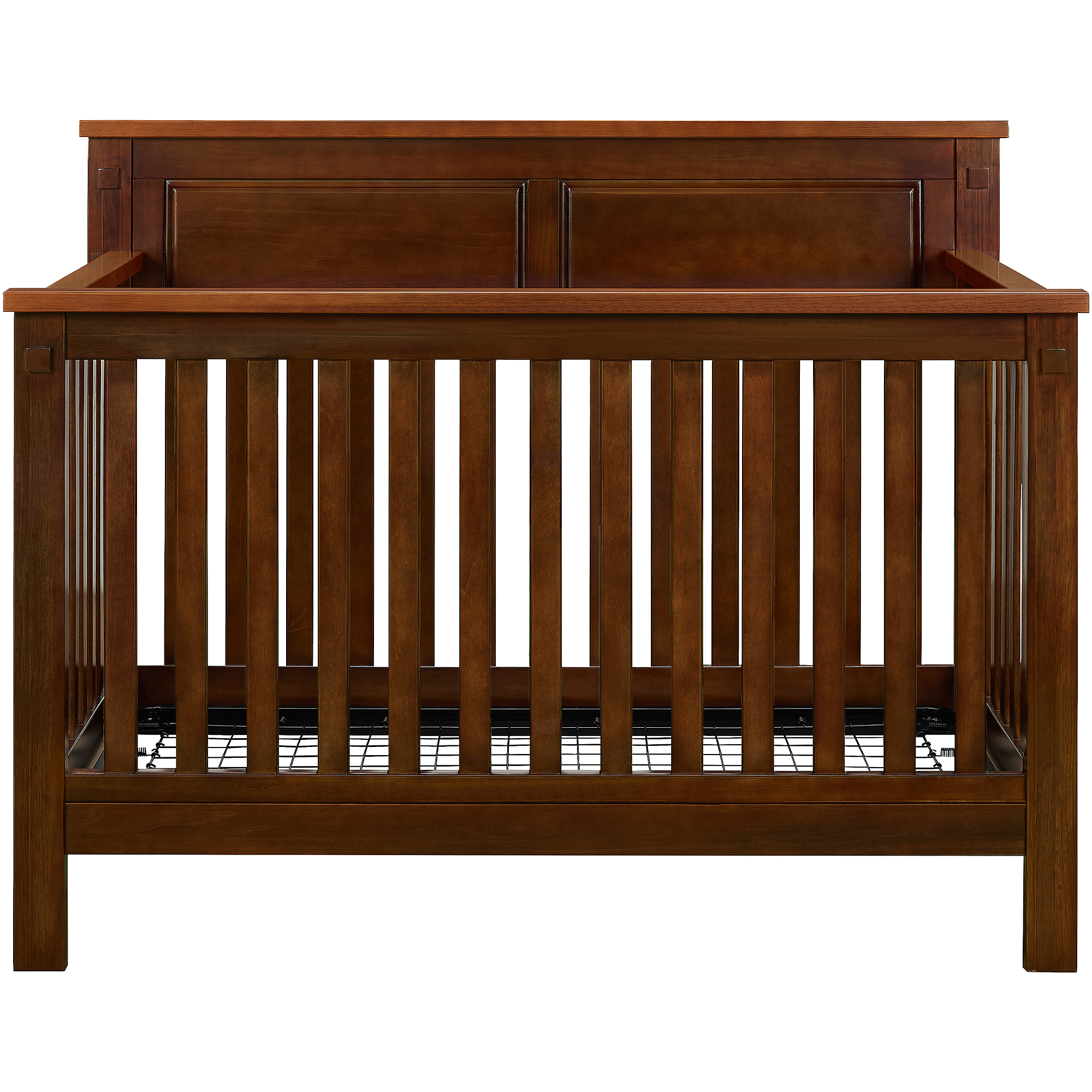 Baby Relax Forrest 4-in-1 Fixed-Side Convertible Crib, Espresso/Walnut