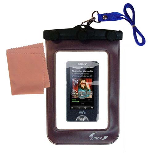 Gomadic Clean and Dry Waterproof Protective Case Suitablefor the Sony Walkman X Series NWZ-X1051 to use Underwater