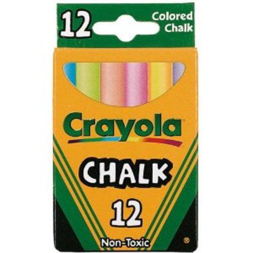 "Crayola Colored Chalk - 3.25"" X 0.38"" Chalk Size - Assorted Chalk - 12 / Box (510816_40)"