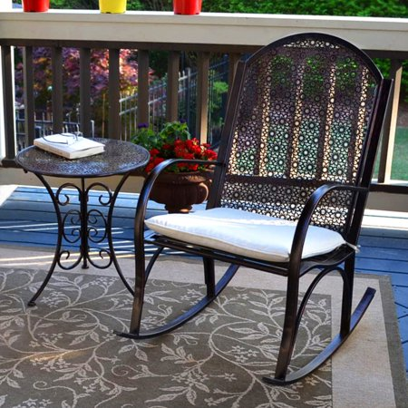 Side Rocker - Tortuga Outdoor Rocking Chair with Side Table