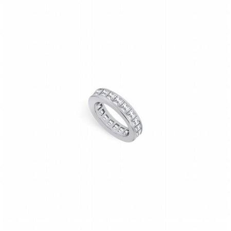 Fine Jewelry Vault UBPTSQ300D160-25-101RS8 3 CT Platinum Diamond Eternity Band Third & Fourth Wedding Anniversary Ring Gift - Size