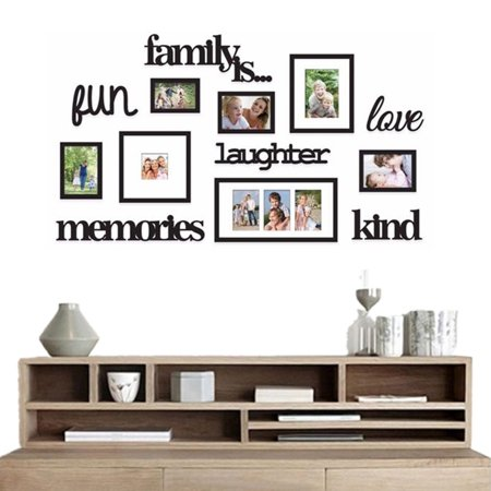 - 3D Family Tree Photo Picture Frame Acrylic Set Collage Wall Art Home Party Decor