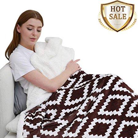 Ultra Soft Sherpa Fleece Throw Blanket