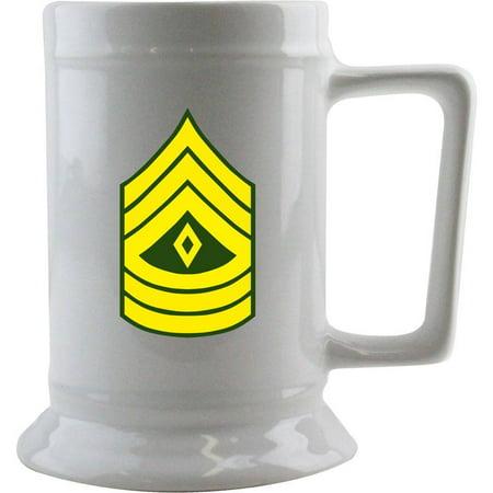 Army First Sergeant Rank 16 oz. Beer Stein (Army 1st Sergeant)