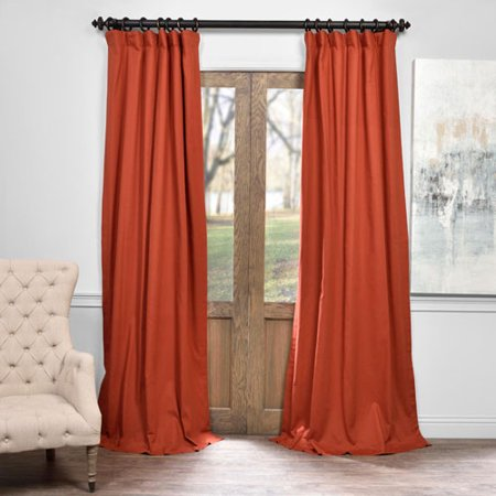 Autumn Rust 50 X 120 Inch Solid Cotton Blackout Curtain