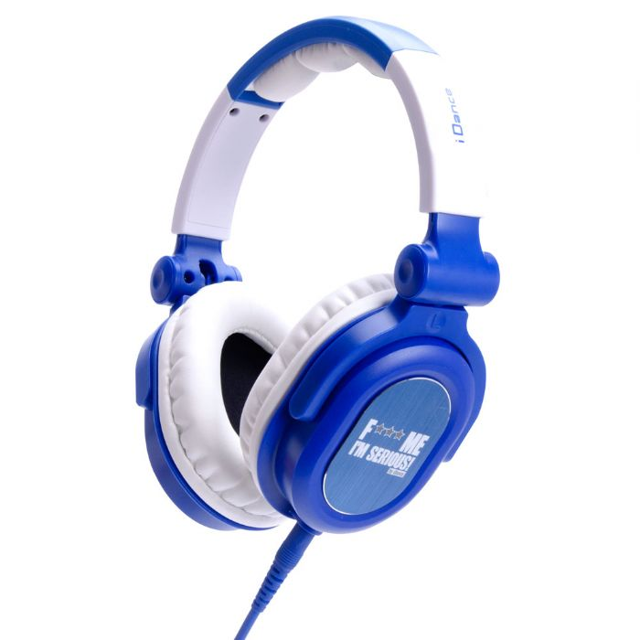 Idance FDJ100 Blue/white Swivel Cup Dj Headphon