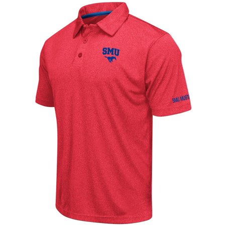 (Mens SMU Mustangs Short Sleeve Polo Shirt - S)