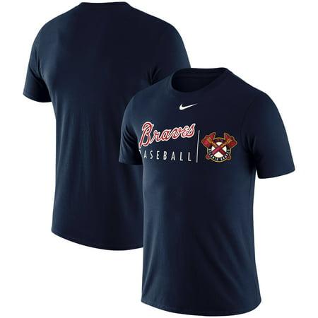 Atlanta Braves Nike MLB Logo Practice T-Shirt - Navy