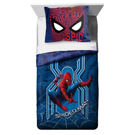 Spiderman Kids Bedding Twin/Full Comforter and Sham, 2 ...